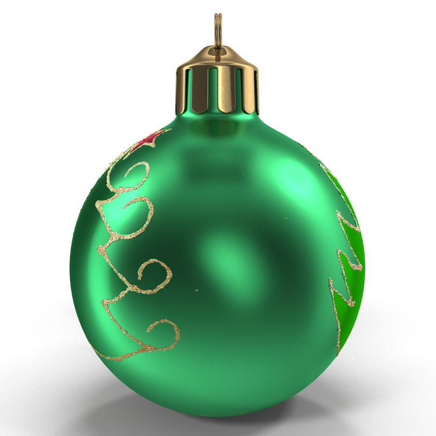 Christmas Ornament Balls 1 royalty-free 3d model - Preview no. 4