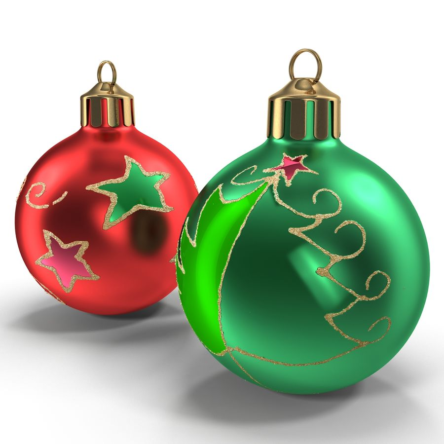Christmas Ornament Balls 1 royalty-free 3d model - Preview no. 8