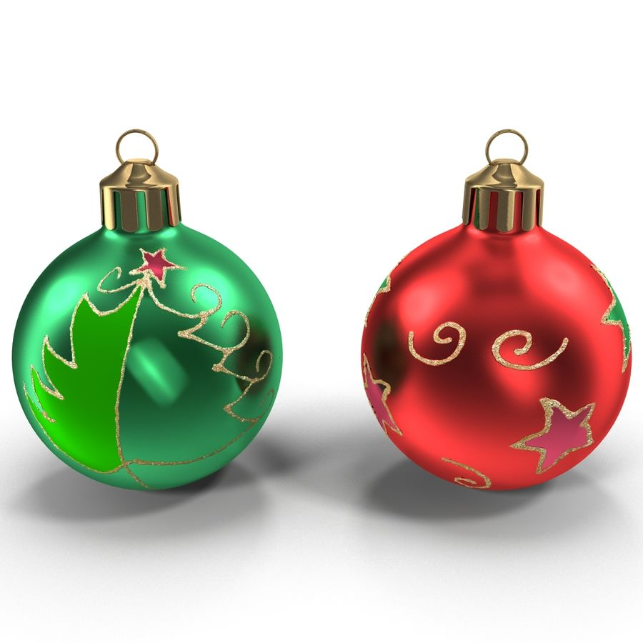 Christmas Ornament Balls 1 royalty-free 3d model - Preview no. 6