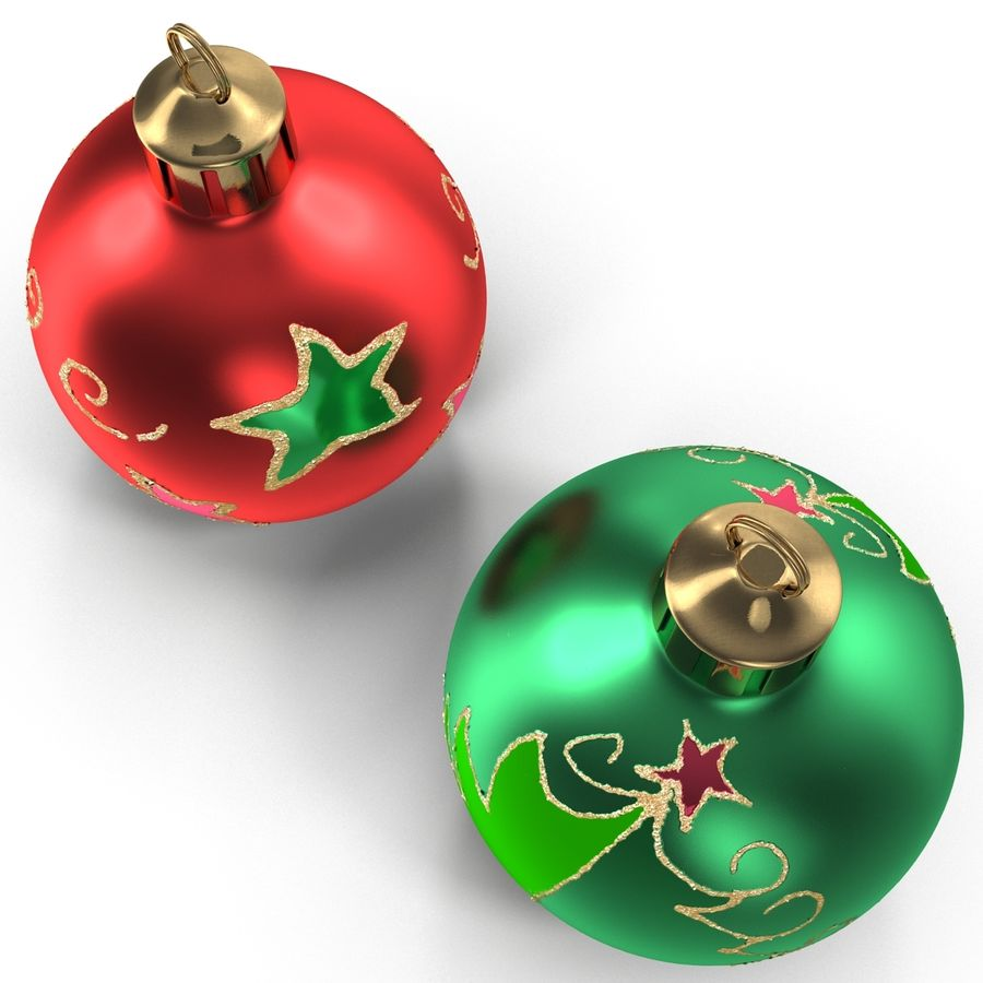 Christmas Ornament Balls 1 royalty-free 3d model - Preview no. 14