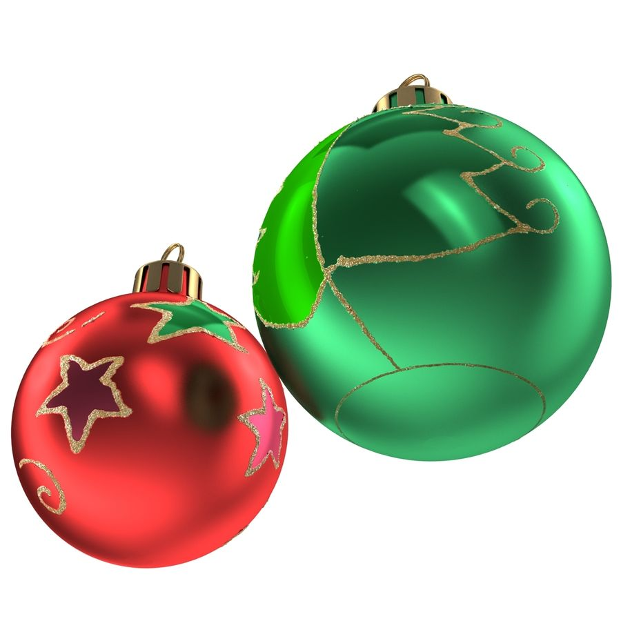 Christmas Ornament Balls 1 royalty-free 3d model - Preview no. 11