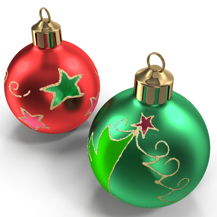 Christmas Ornament Balls 1 royalty-free 3d model - Preview no. 10