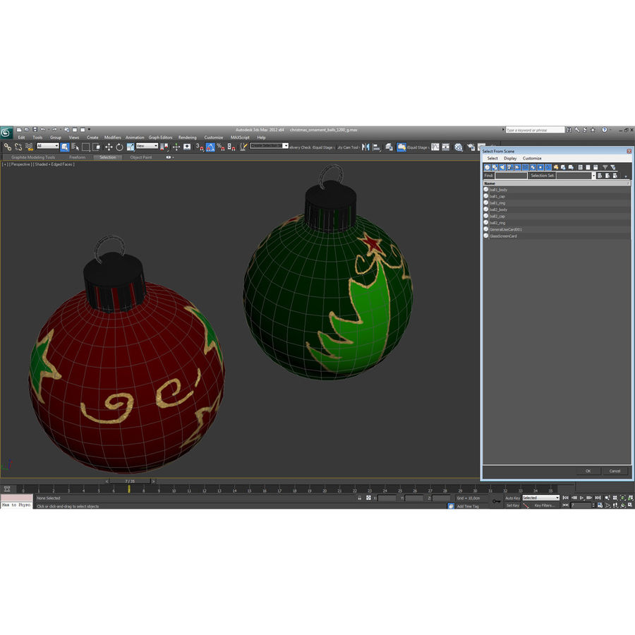 Christmas Ornament Balls 1 royalty-free 3d model - Preview no. 36