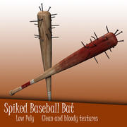 Spiked Nail Baseball Bat 3d model