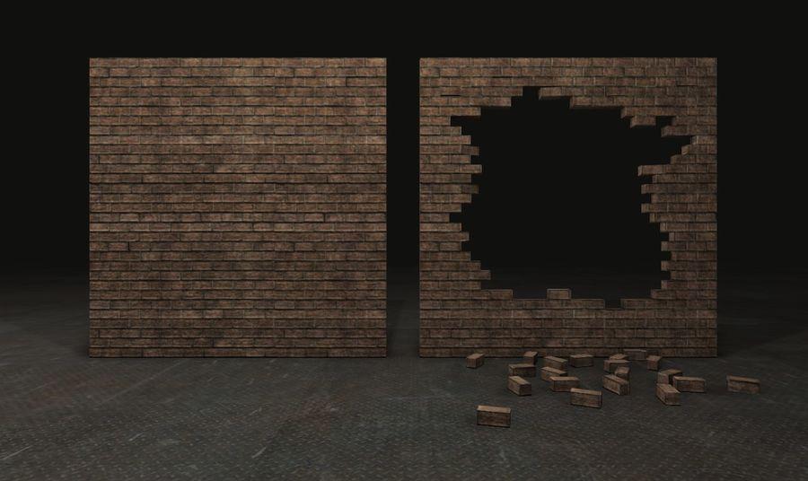 Gebroken muur royalty-free 3d model - Preview no. 2