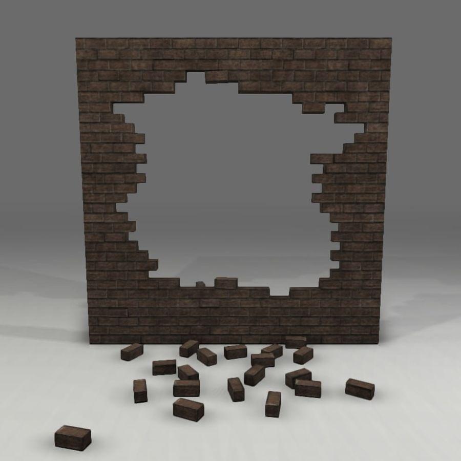 Gebroken muur royalty-free 3d model - Preview no. 1