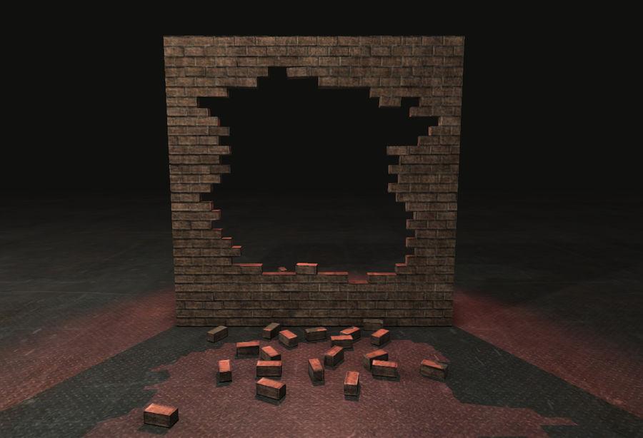 Gebroken muur royalty-free 3d model - Preview no. 3