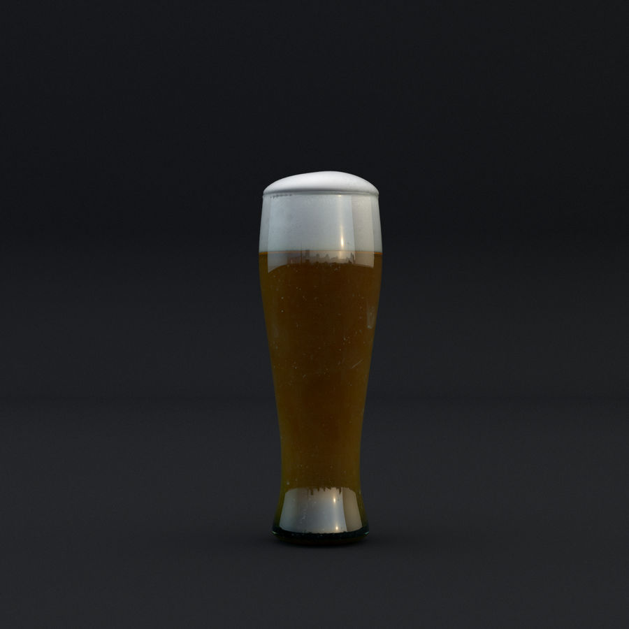 Beer glass royalty-free 3d model - Preview no. 4