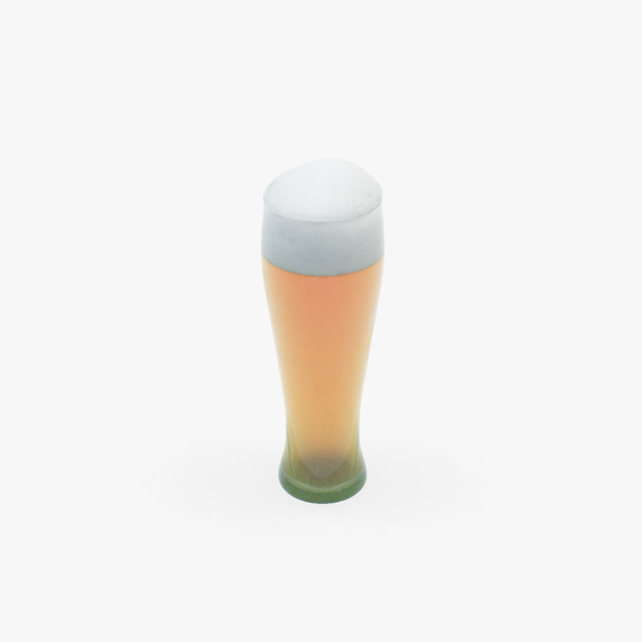 Beer glass royalty-free 3d model - Preview no. 11
