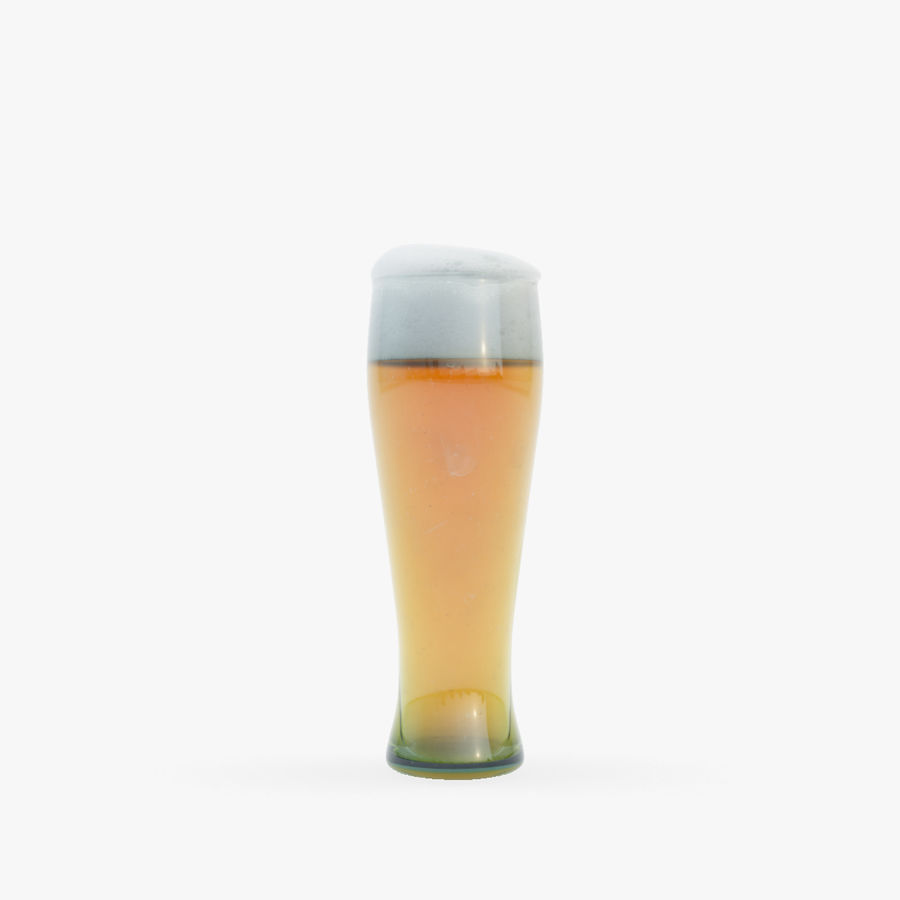 Beer glass royalty-free 3d model - Preview no. 7