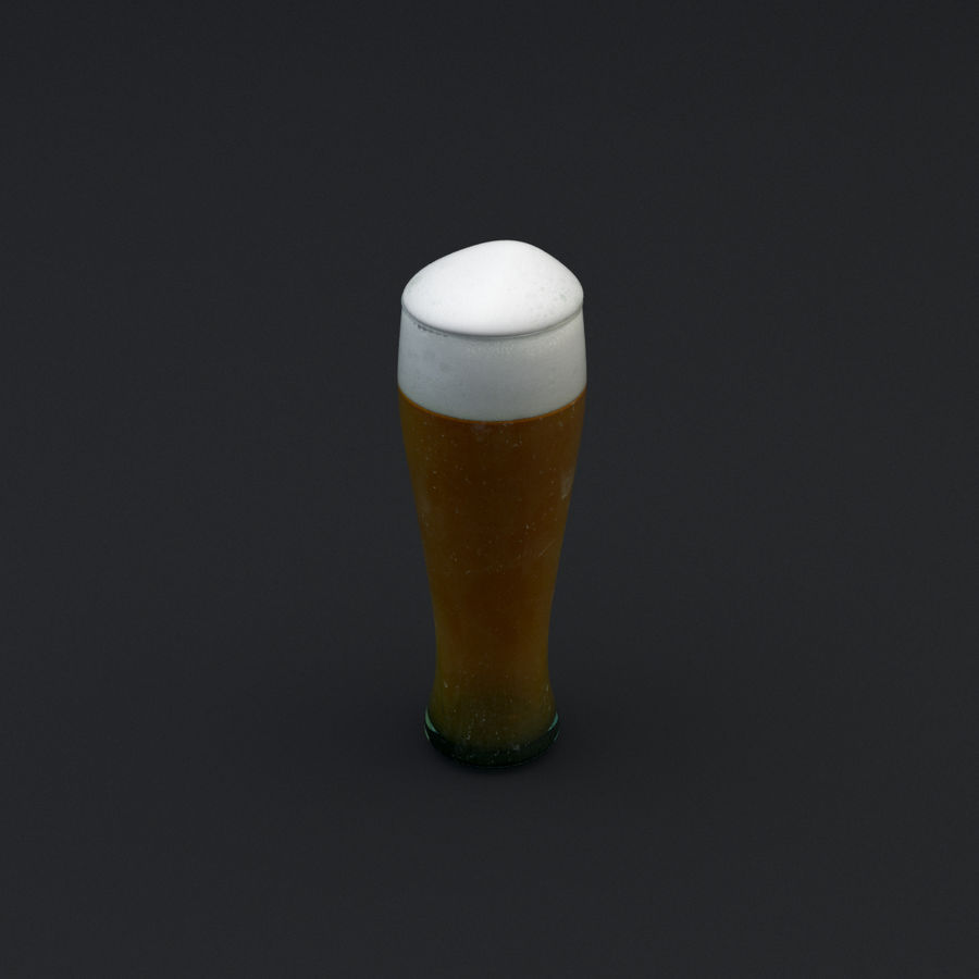 Beer glass royalty-free 3d model - Preview no. 12
