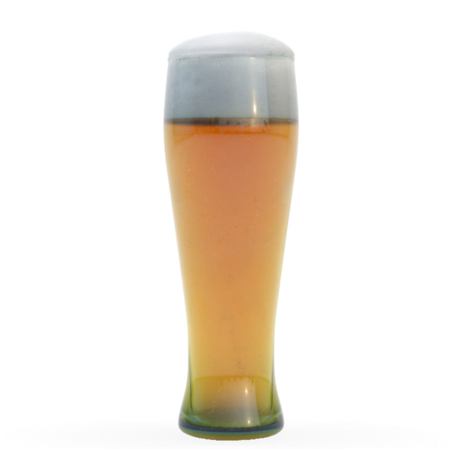 Beer glass royalty-free 3d model - Preview no. 1