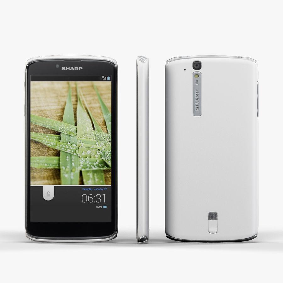 Sharp SH837W White royalty-free 3d model - Preview no. 1