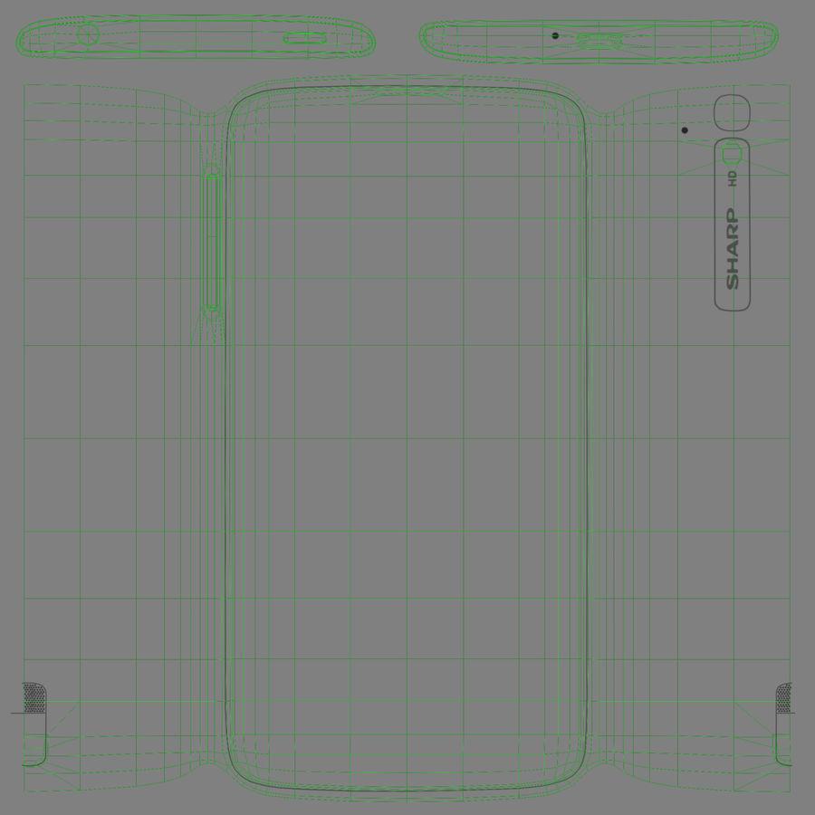 Sharp SH837W White royalty-free 3d model - Preview no. 11