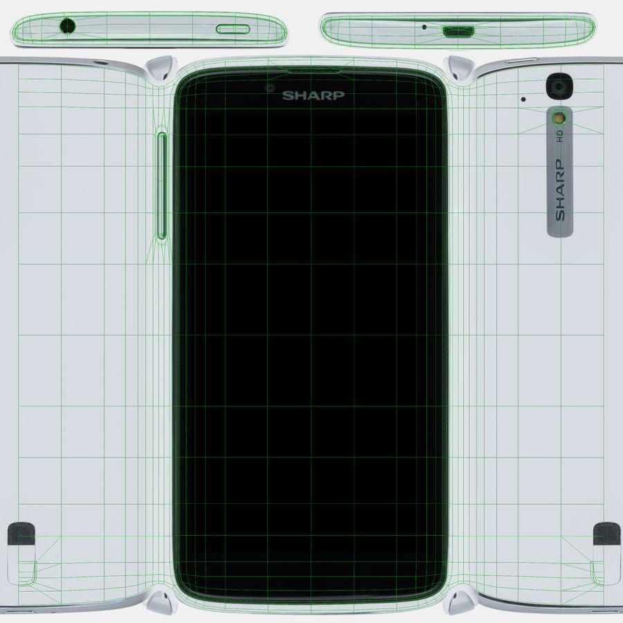 Sharp SH837W White royalty-free 3d model - Preview no. 12