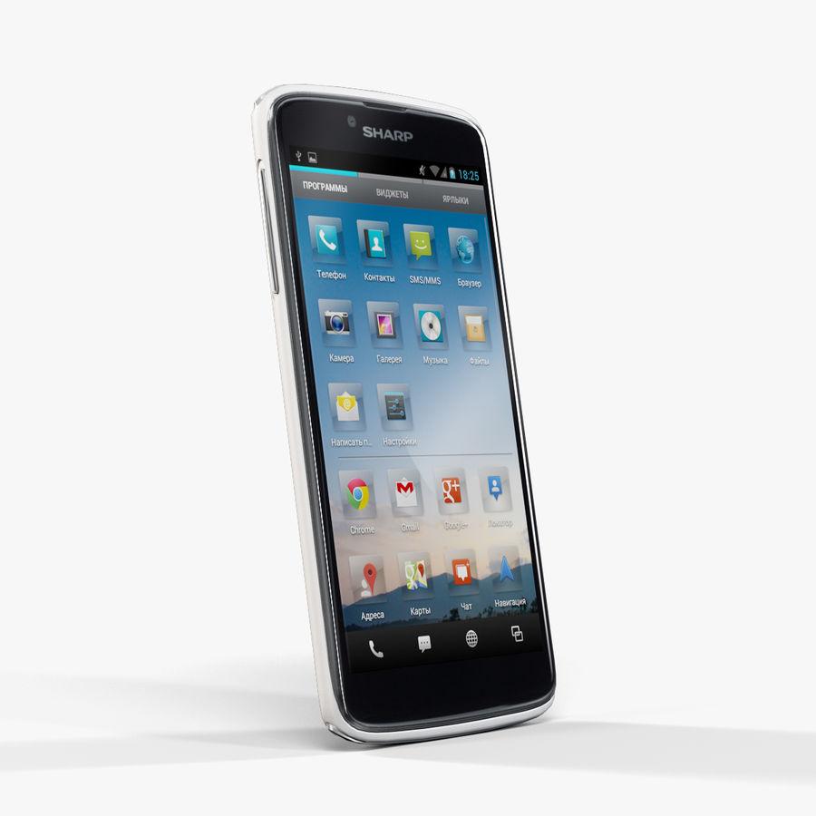 Sharp SH837W White royalty-free 3d model - Preview no. 4