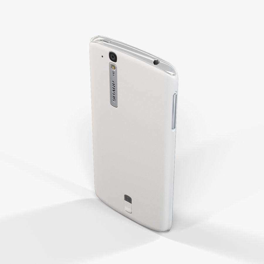 Sharp SH837W White royalty-free 3d model - Preview no. 6