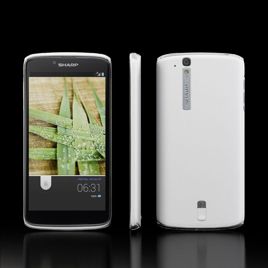 Sharp SH837W White royalty-free 3d model - Preview no. 2