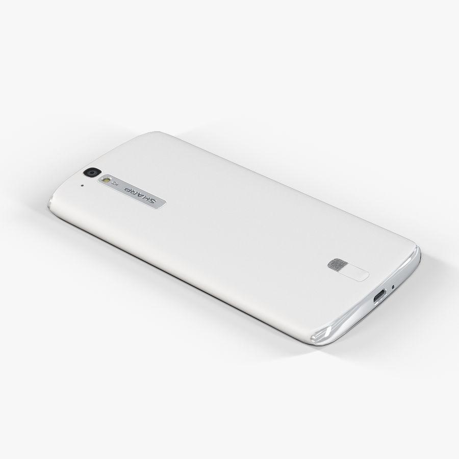 Sharp SH837W White royalty-free 3d model - Preview no. 7