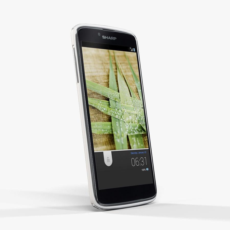 Sharp SH837W White royalty-free 3d model - Preview no. 3