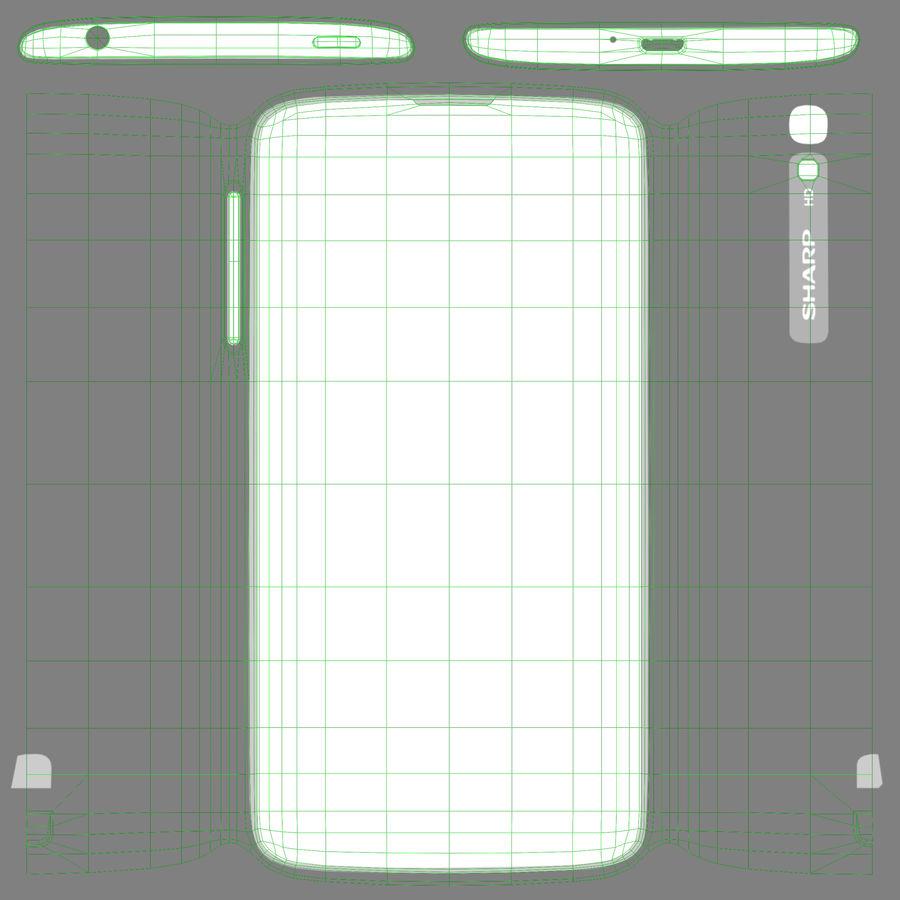 Sharp SH837W White royalty-free 3d model - Preview no. 14