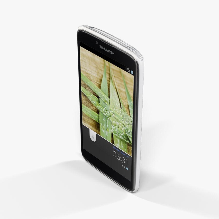 Sharp SH837W White royalty-free 3d model - Preview no. 5