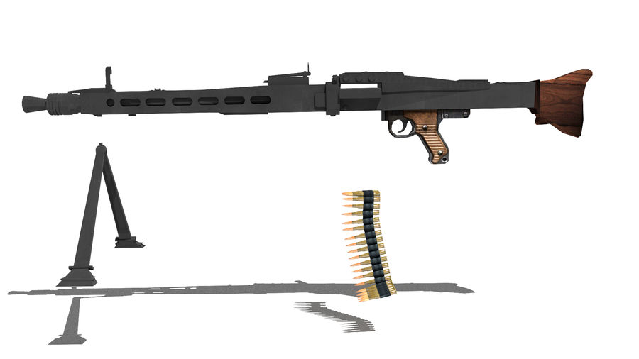 MG42 royalty-free 3d model - Preview no. 7