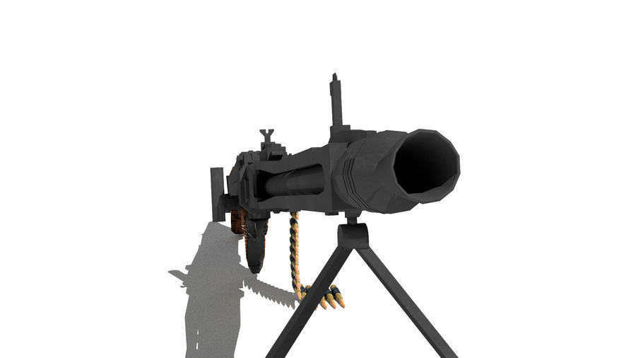 MG42 royalty-free 3d model - Preview no. 4