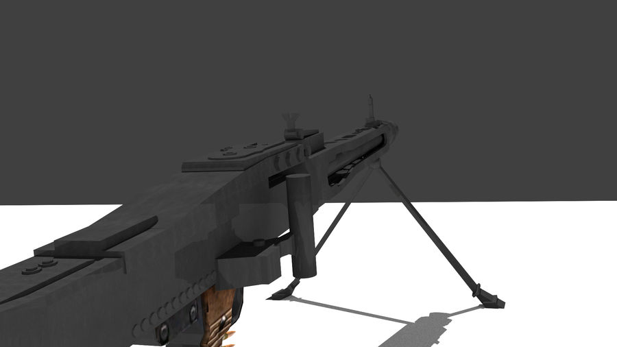 MG42 royalty-free 3d model - Preview no. 3