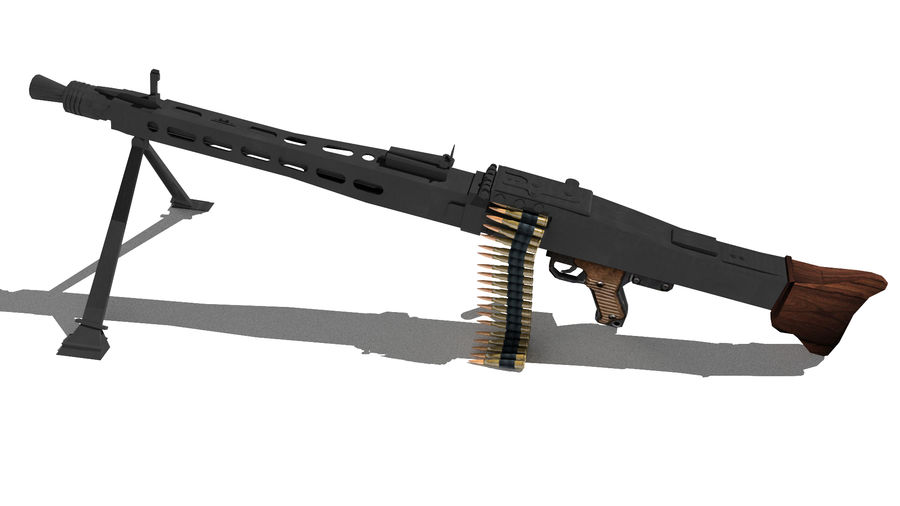 MG42 royalty-free 3d model - Preview no. 5