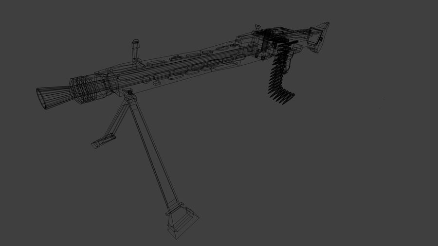 MG42 royalty-free 3d model - Preview no. 12