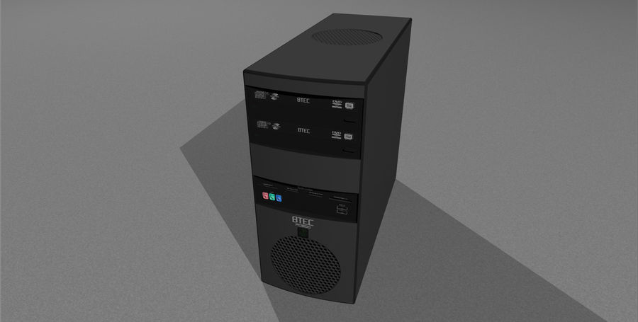 Computer Setup with Desk and Chair royalty-free 3d model - Preview no. 44