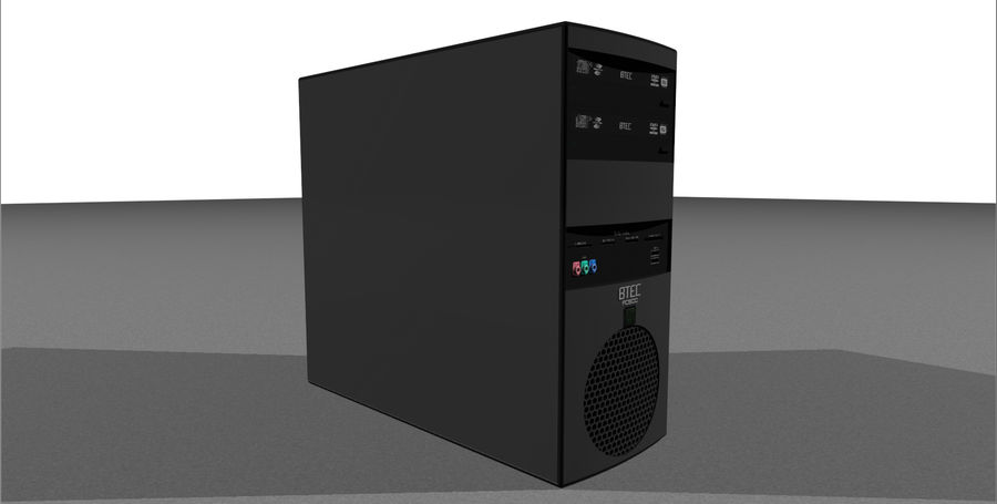 Computer Setup with Desk and Chair royalty-free 3d model - Preview no. 41