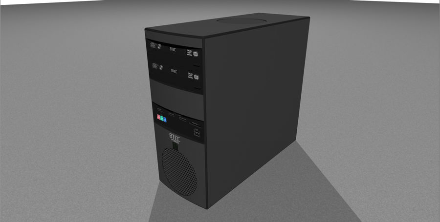 Computer Setup with Desk and Chair royalty-free 3d model - Preview no. 39