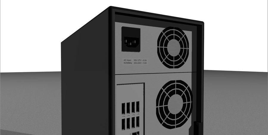 Computer Setup with Desk and Chair royalty-free 3d model - Preview no. 52
