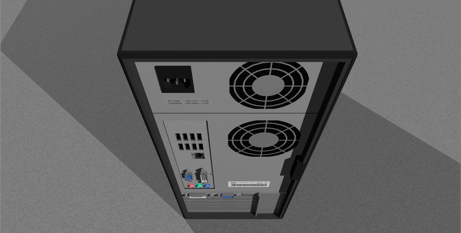 Computer Setup with Desk and Chair royalty-free 3d model - Preview no. 53
