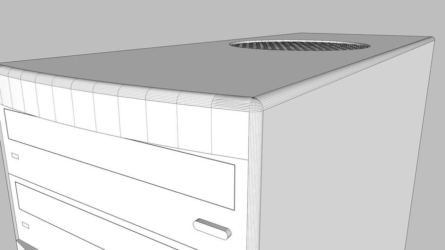 Computer Setup with Desk and Chair royalty-free 3d model - Preview no. 68