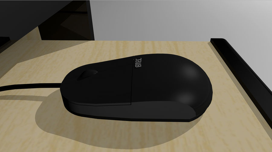 Computer Setup with Desk and Chair royalty-free 3d model - Preview no. 22