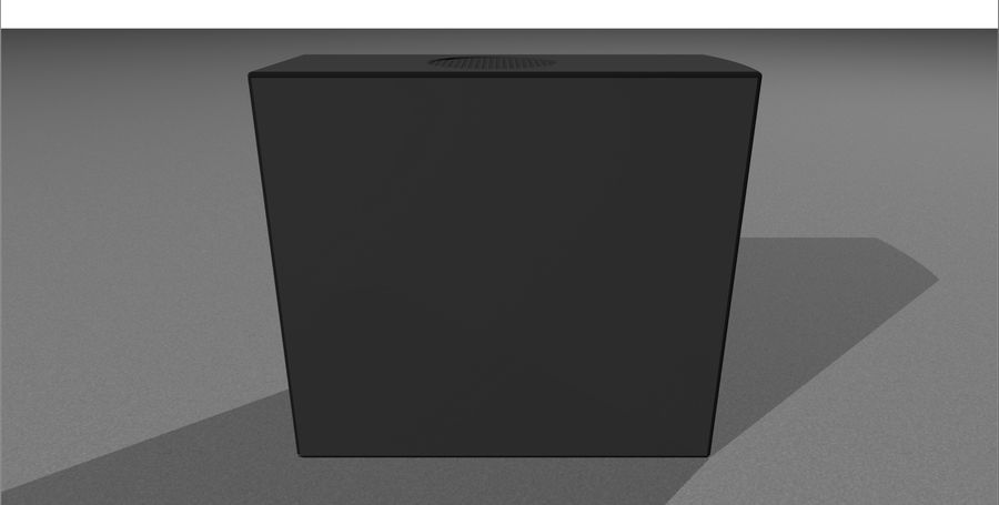 Computer Setup with Desk and Chair royalty-free 3d model - Preview no. 42