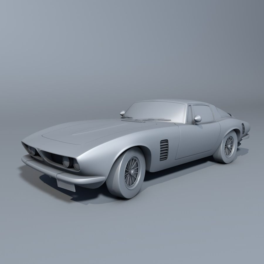 Car iso grifo royalty-free 3d model - Preview no. 1