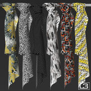 Fashion shop foulards 01 3d model
