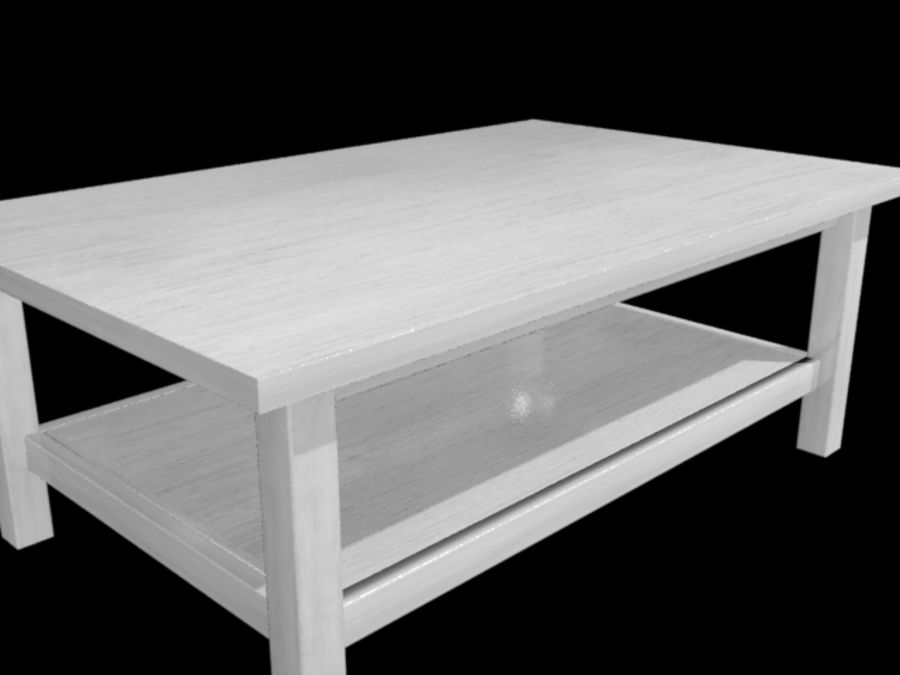 Ikea Hemnes Coffee Table (46 x 29 inch) royalty-free 3d model - Preview no. 5