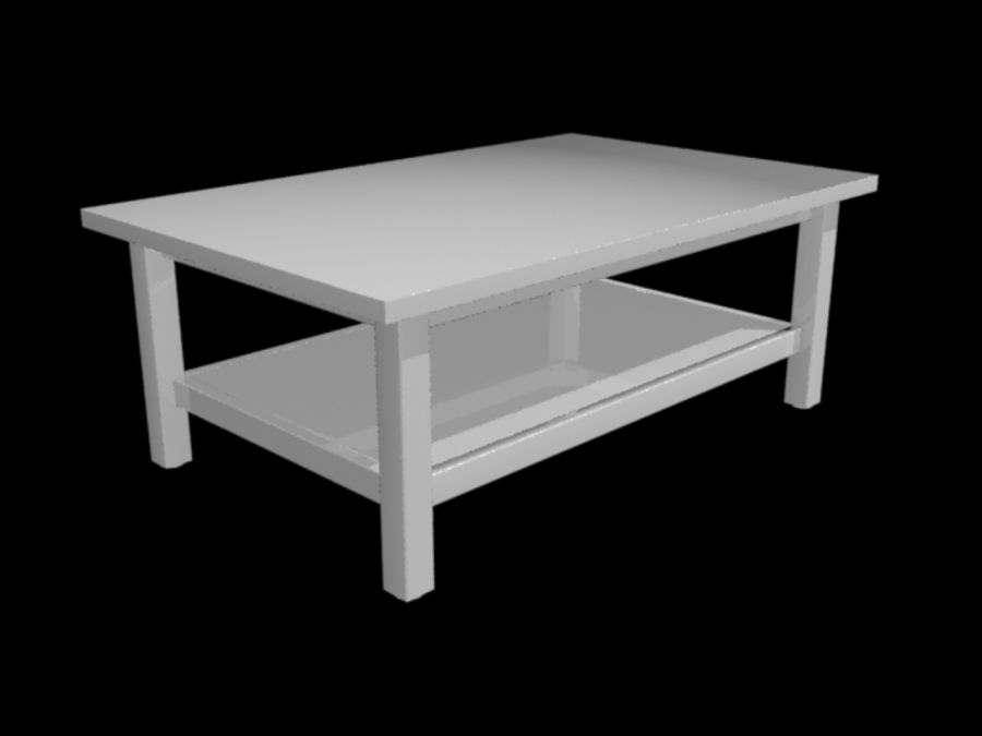 Ikea Hemnes Coffee Table (46 x 29 inch) royalty-free 3d model - Preview no. 8