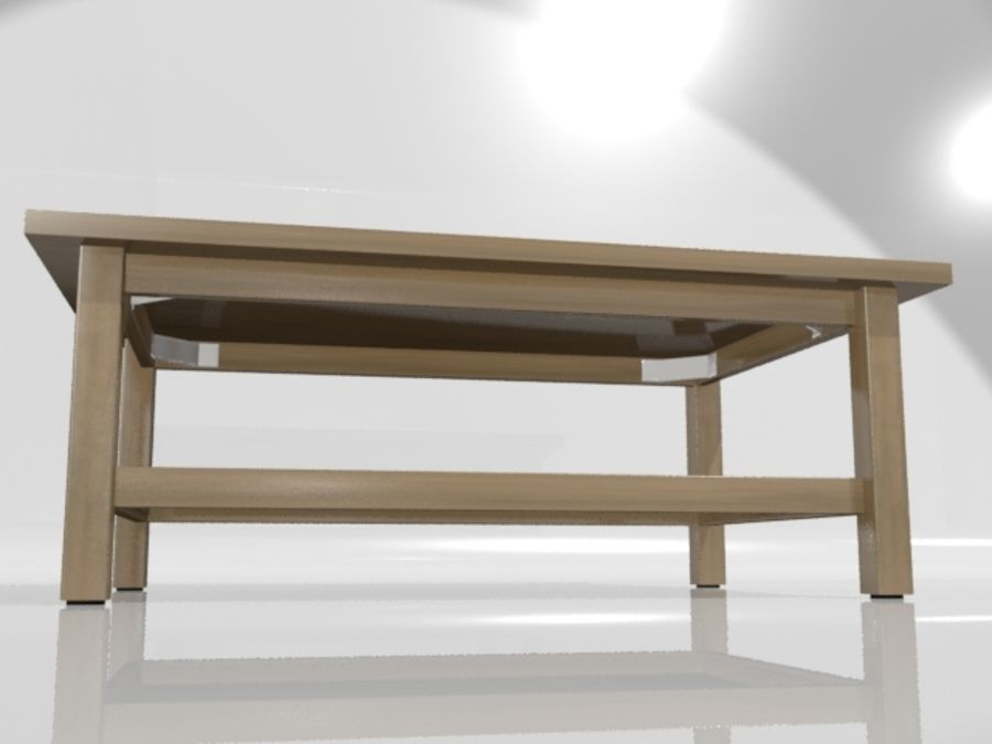 Ikea Hemnes Coffee Table (46 x 29 inch) royalty-free 3d model - Preview no. 10