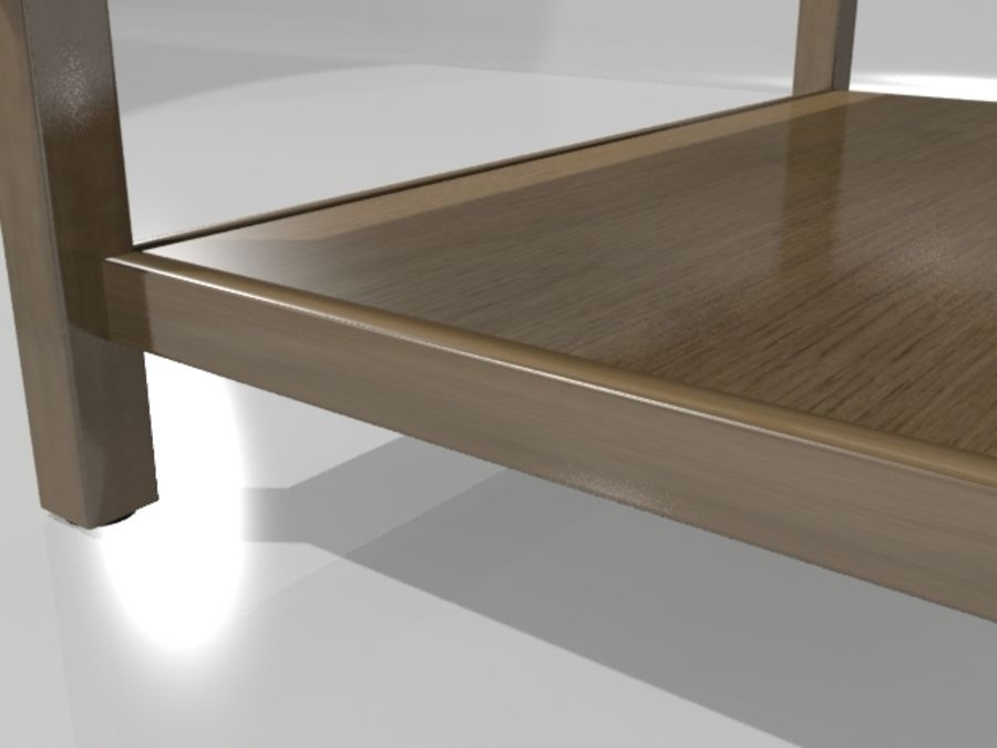 Ikea Hemnes Coffee Table (46 x 29 inch) royalty-free 3d model - Preview no. 2