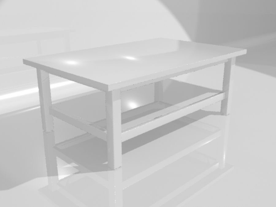 Ikea Hemnes Coffee Table (46 x 29 inch) royalty-free 3d model - Preview no. 7
