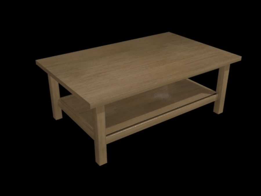 Ikea Hemnes Coffee Table (46 x 29 inch) royalty-free 3d model - Preview no. 4