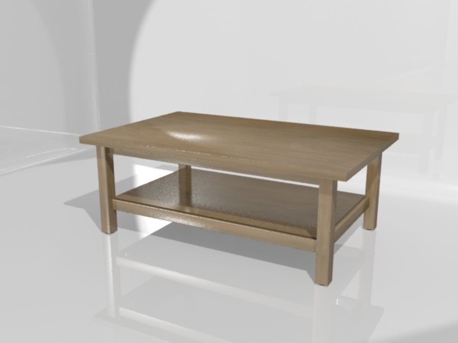 Ikea Hemnes Coffee Table (46 X 29 Inch) Royalty Free 3d Model