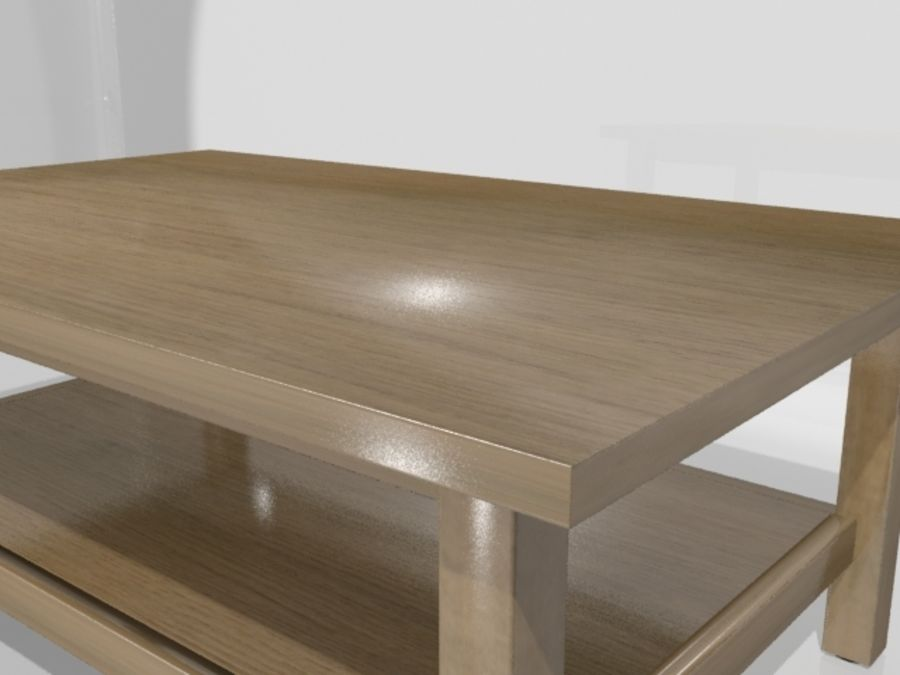 Ikea Hemnes Coffee Table (46 x 29 inch) royalty-free 3d model - Preview no. 9