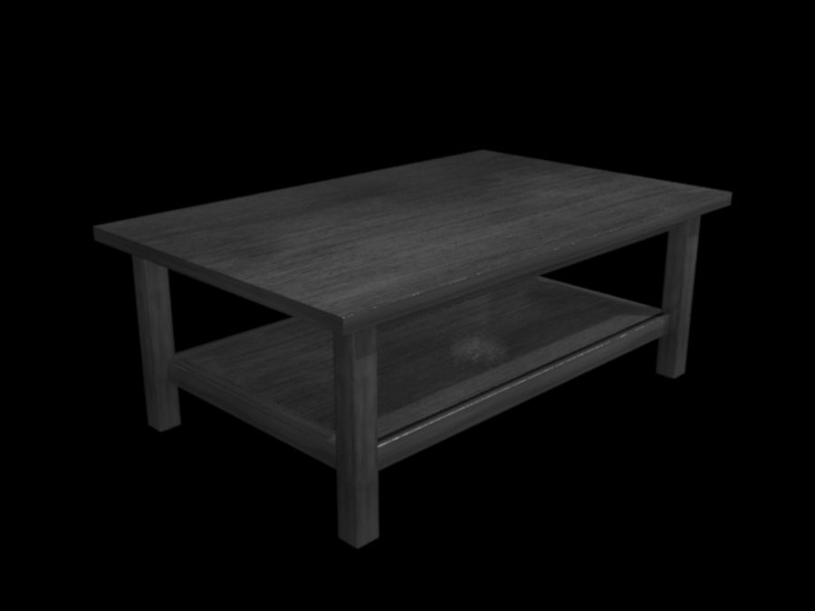 Ikea Hemnes Coffee Table (46 x 29 inch) royalty-free 3d model - Preview no. 6